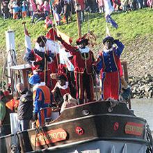 Aankomst boot Sinterklaas