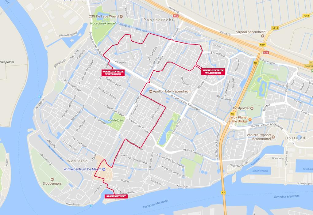 Route Intocht Sinterklaas Papendrecht